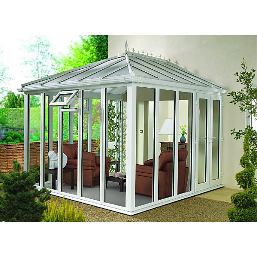Wickes Edwardian Full Glass Conservatory - 8 x