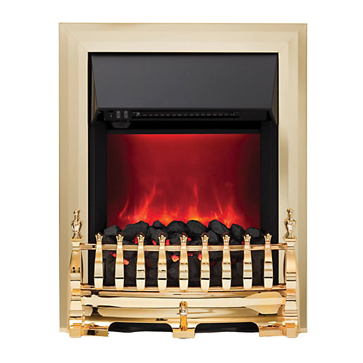 Camberley Electric Inset Fires Brass