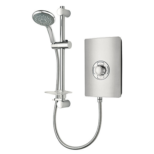 Triton Electric Shower - Brushed Steel Effect 9.5kW