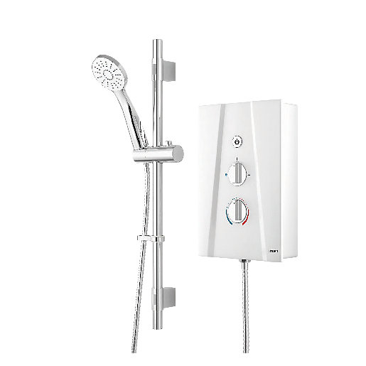 Wickes Hydro Ultra Electric Shower Kit - White/Chrome