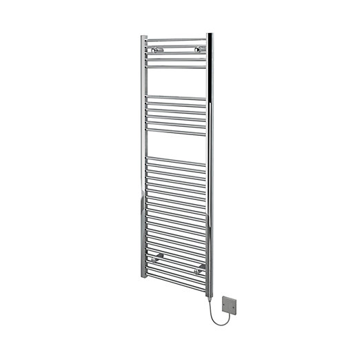 Kudox Flat Electric Towel Radiator - Chrome 500