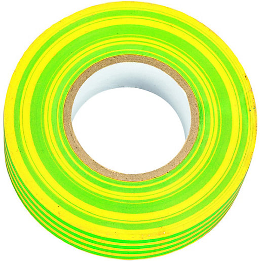 Wickes Electrical Insulation Tape - Green & Yellow