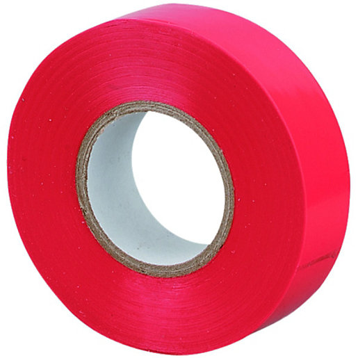Wickes Electrical Insulation Tape - Red 20m Pack