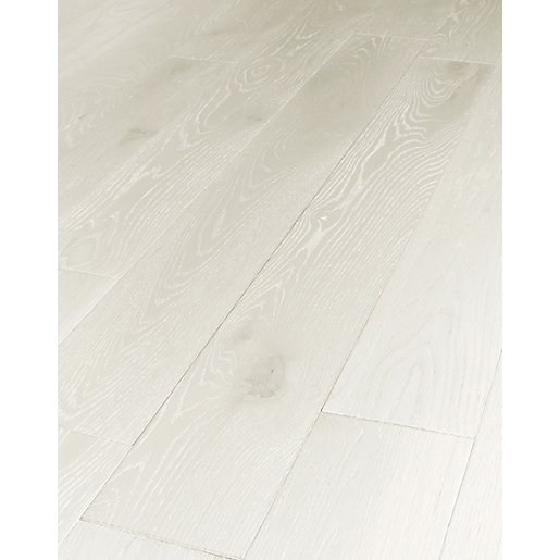 Wickes Prussian White Real Wood Top Layer Engineered Flooring Co Uk