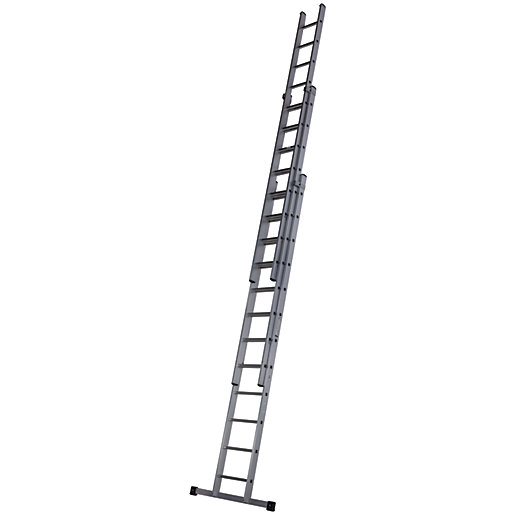 Werner 9.18m Pro 3 Section Aluminium Extension Ladder ...
