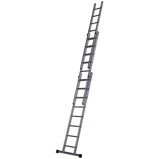 Werner Professional 5.7m 3 Section Aluminium Extension Ladder