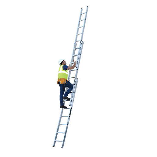 3 Section Extension Ladder : Youngman professional section aluminium extension ladder