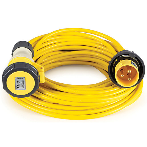 Defender 110v 1.5mm 16A Extension Lead - 10m