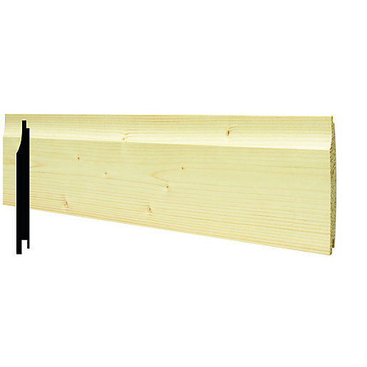 Large Format Exterior Cladding Products : Wickes softwood shiplap cladding mm pack