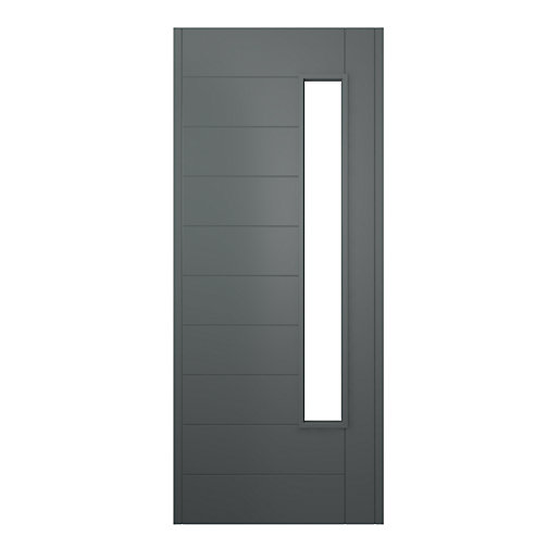 JCI Ultimate Stockholm External Hardwood Glazed Door Grey