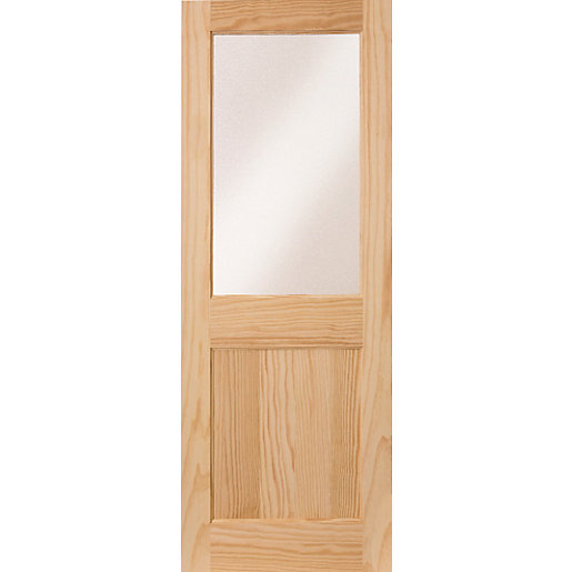 Wickes Tamar External Pine Door Glazed 1 Panel 1981 x 838mm  sc 1 st  Wickes & Hardwood Doors - External Oak Veneer Doors | Wickes