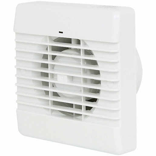 Ceiling Mounted Extractor Fan For Bathroom: Manrose Bathroom Fan With Timer - White 100mm