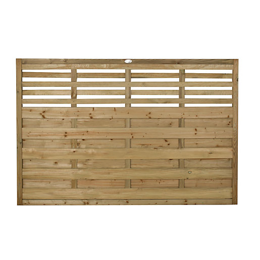 Forest Garden Pressure Treated Kyoto Fence Panel -