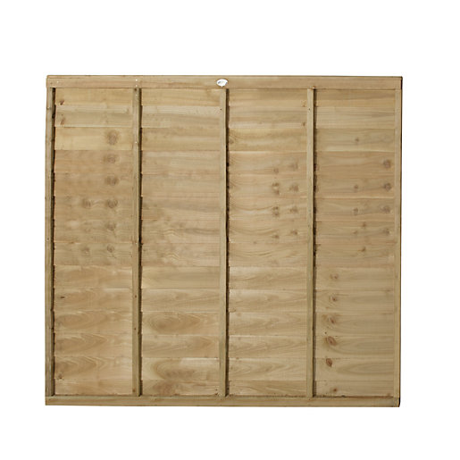 Forest Garden Pressure Treated Overlap Fence Panel -