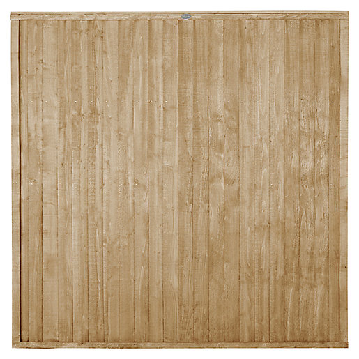 Forest Garden Pressure treated Closeboard Fence Panel -
