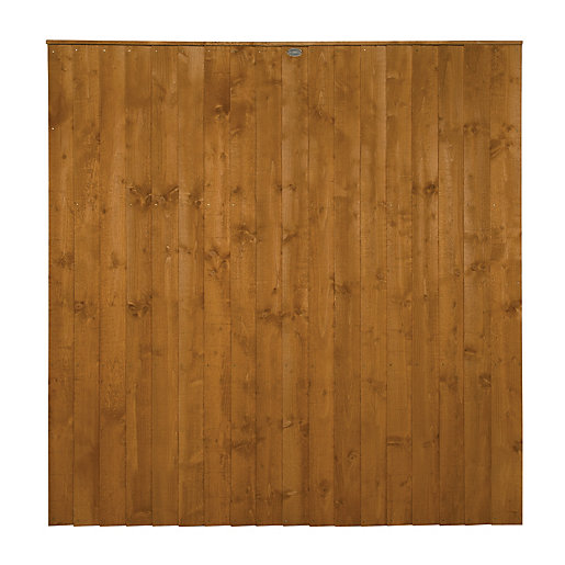 Wickes Dip Treated Featheredge Fence Panel 6 X 6ft