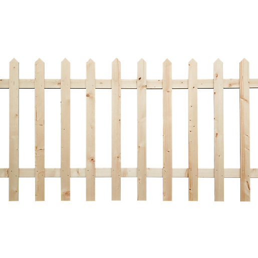 Wickes Palisade Picket Fence Kit 6 x 3ft