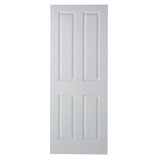 Wickes Stirling White Grained Moulded 4 Panel Internal