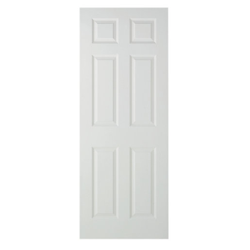 wickes woburn internal fire door white grained moulded 6. Black Bedroom Furniture Sets. Home Design Ideas