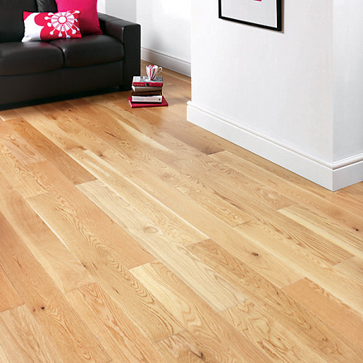 Wickes 1 Strip Natural Oak Engineered Wood Flooring 180mm Pack 7 - Laminate Floor Clearance €� Gurus Floor