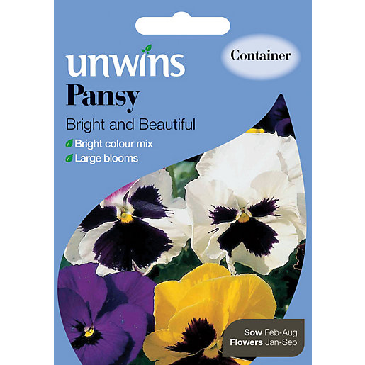 Unwins Bright And Beautiful Pansy Seeds
