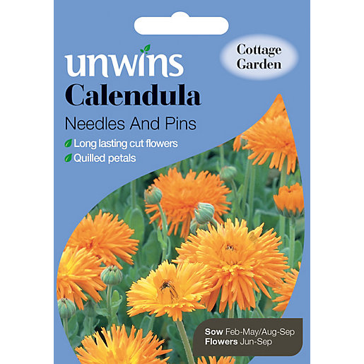 Unwins Needles And Pins Calendula Seeds