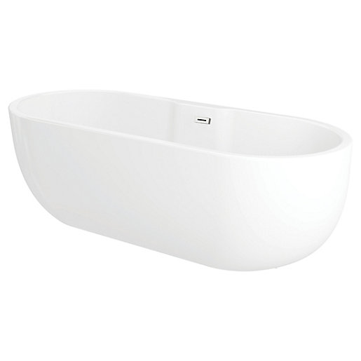 Wickes Oval Freestanding Contemporary Bath - 1800 x