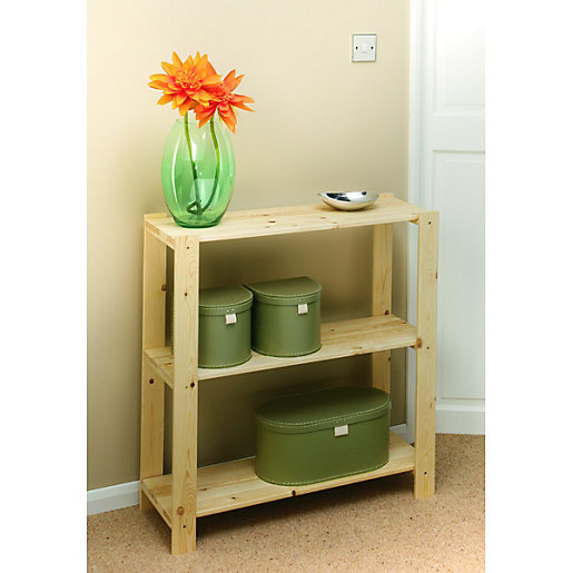 Wickes 3 Tier Pine Shelving Unit Wickes Co Uk