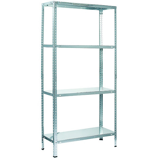 Wickes 4 Tier Metal Shelving Unit 45kg Wickes Co Uk