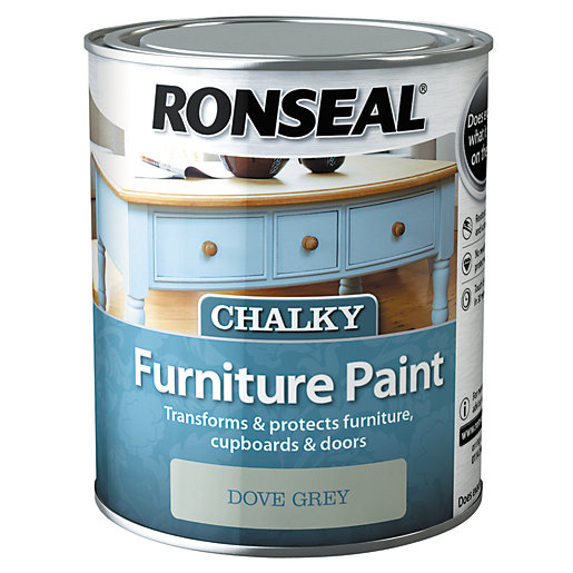Ronseal Furniture Paint - Dove Grey 750ml