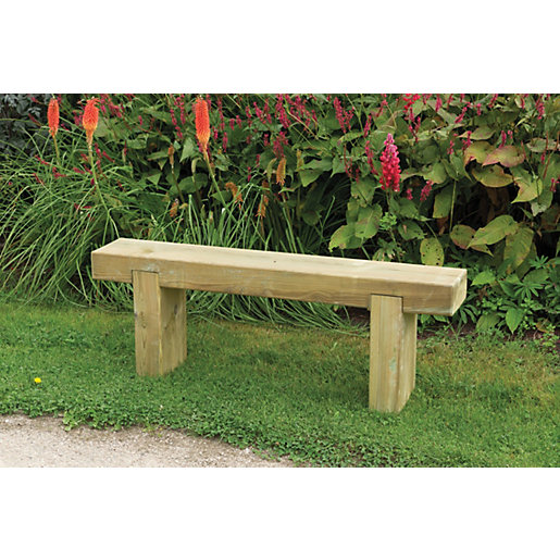 Forest Garden Sleeper Garden Bench   1.2m