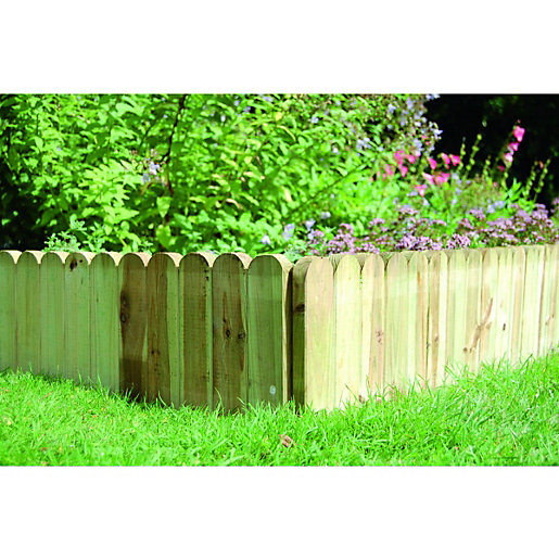 garden borders and edging. Wickes Dome Top Timber Border Edging - 230 X 1000 Mm Garden Borders And D