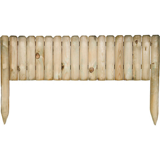 Wickes Easy To Fix Timber Border Edging   300 X 1000 Mm