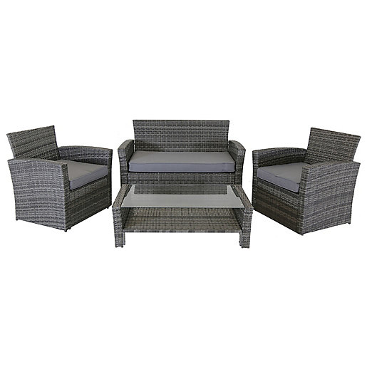 Charles Bentley 4 Seater Rattan Furniture Set In