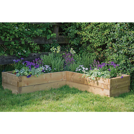 Forest Garden Caledonian Corner Raised Bed - 1.3m