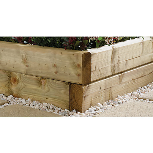 Green Planed & Chamfered Sleepers - 95 x