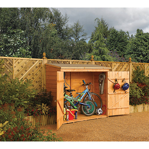 Rowlinson 6 x 3 ft Timber Wall Bike