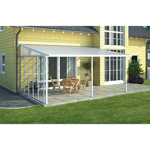 Palram Feria Polycarbonate Patio Canopy White - 2950 x 4250 mm  sc 1 st  Wickes & Gazebos u0026 Canopies | Garden Sheds u0026 Greenhouses | Wickes.co.uk