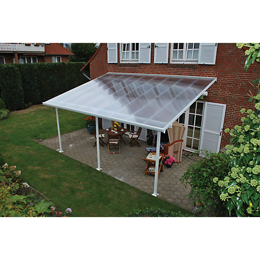 Use + and - keys to zoom in and out arrow keys move the zoomed portion of the image  sc 1 st  Wickes & Palram Feria Polycarbonate Patio Canopy White - 2950 x 5460 mm ...