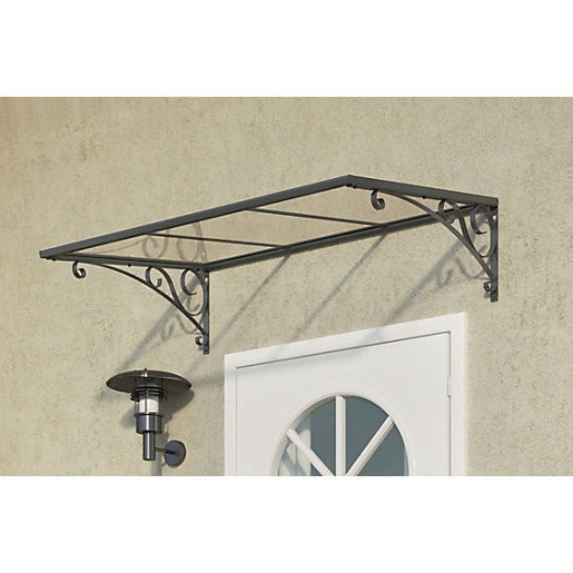 Mouse over image for a closer look.  sc 1 st  Wickes & Palram Venus Polycarbonate Door Canopy Grey - 880 x 1335 mm ...
