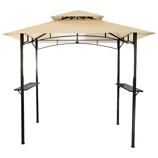 Charles Bentley 8x5Ft Steel Gazebo Beige