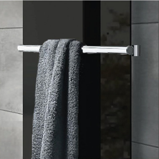 Wickes Glass Radiator Towel Bar - Brushed Stainless