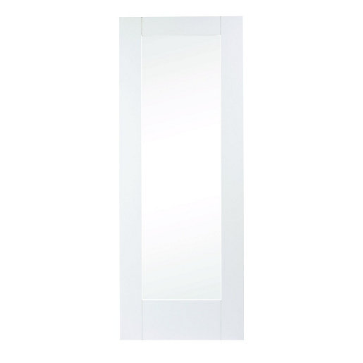 Wickes Oxford White Fully Glazed Softwood 1 Panel Internal Door