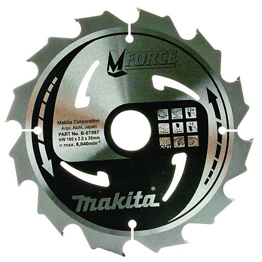 Makita B-07967 M-force 12 Teeth Circular Saw Blade