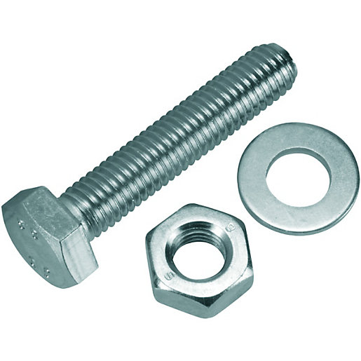 Wickes Hexagonal Set Screws - M10 x 50mm