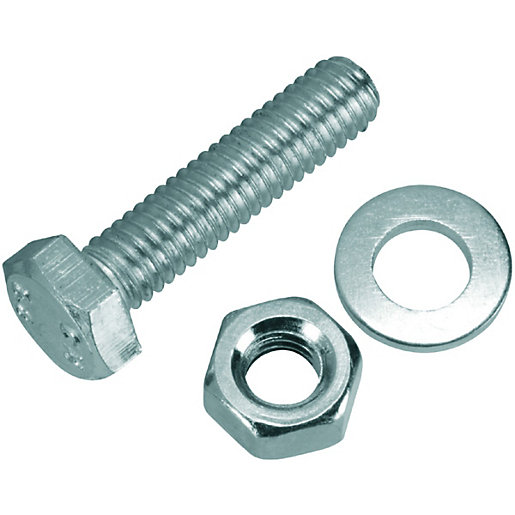 Wickes Hexagonal Set Screws - M6 x 25mm