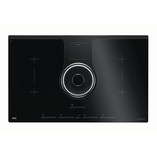 aeg 83cm induction hob hood idk84451ib. Black Bedroom Furniture Sets. Home Design Ideas