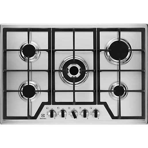 Electrolux 75cm 5 Burner Gas Stainless Steel Hob