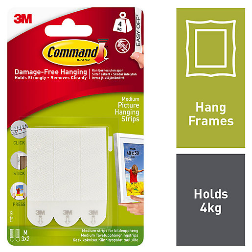 Command Medium Picture Hanging Strips - White Pack