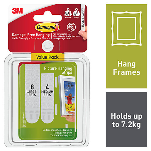Command Picture Hanging Strips - White Pack of